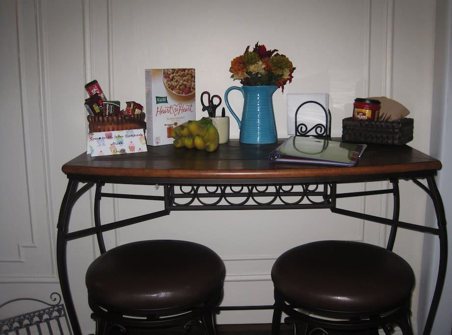 Breakfast Bar with treats for the guest(s)!