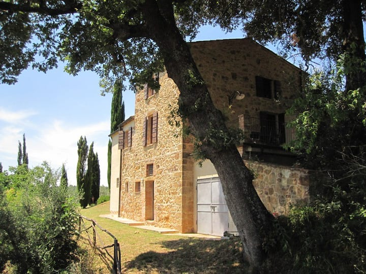 Country house Mulinello, view of Montepulciano