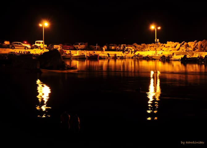 The dock by night