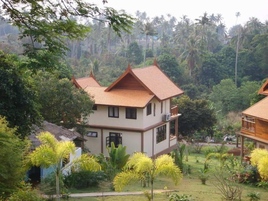 Rear of Villa from hill