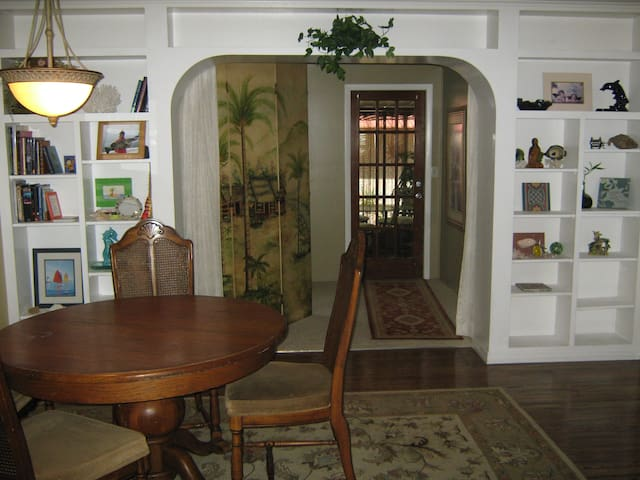 dining area and back door