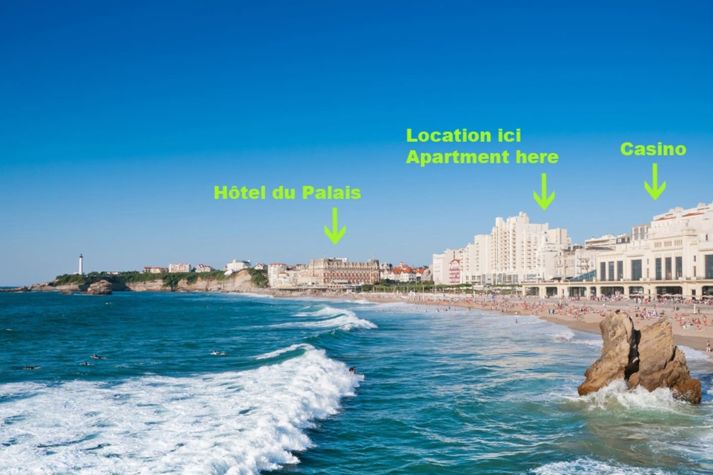 This photo shows where the apartment is located