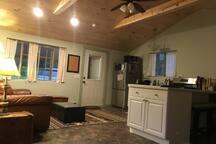 Sitting area adjacent to kitchen