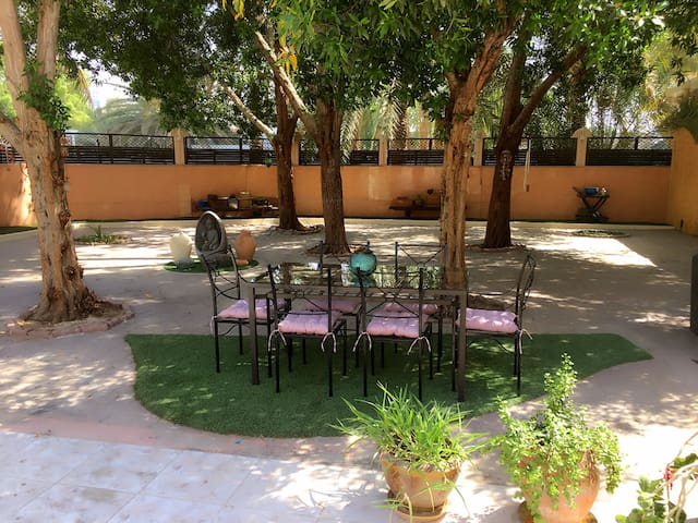 Green villa in Ajman