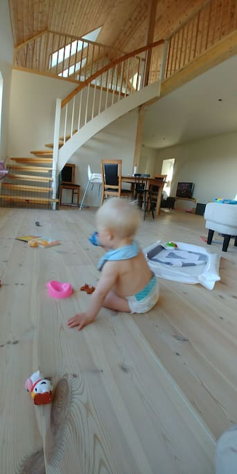 Soft wooden floors perfect for childrens play