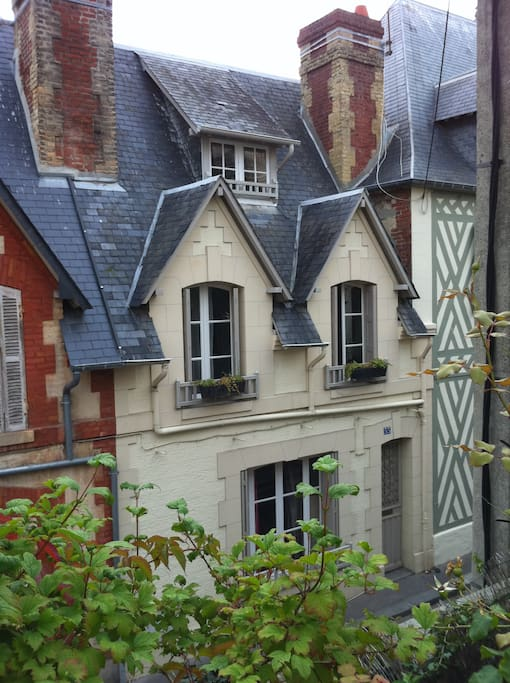Traditional house of Trouville in a quiet district