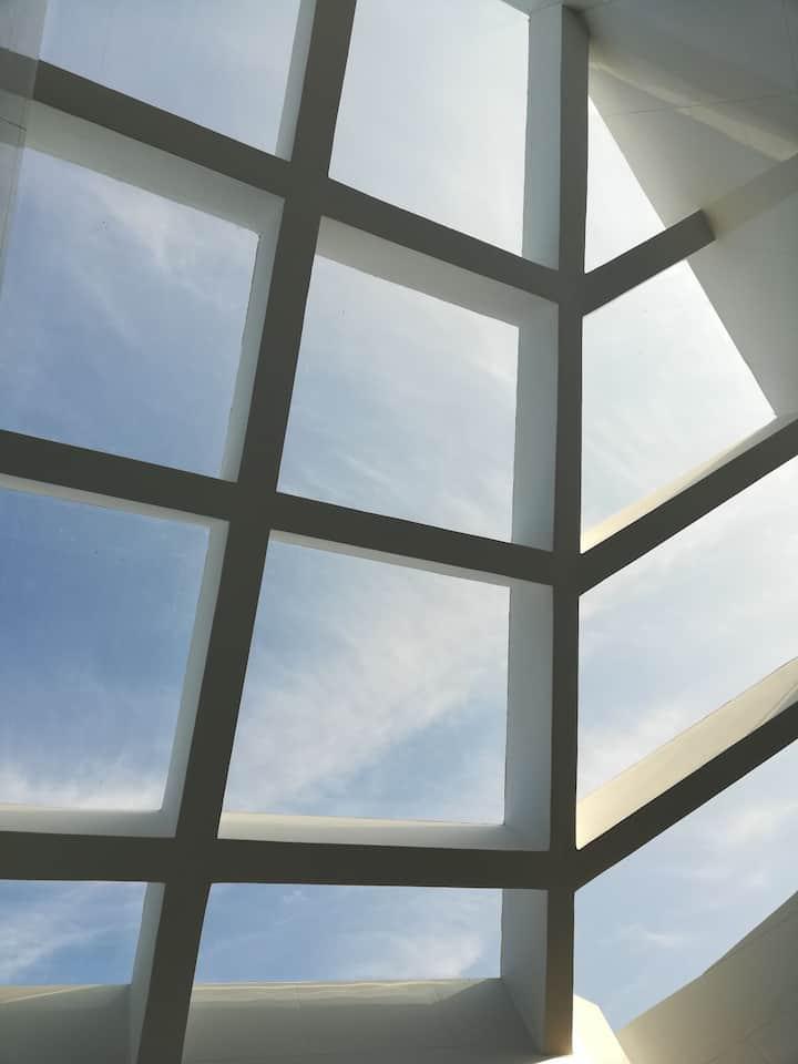 【三格】仰望天空露台+大屏投影+景观浴缸+高好评率+市中心高层