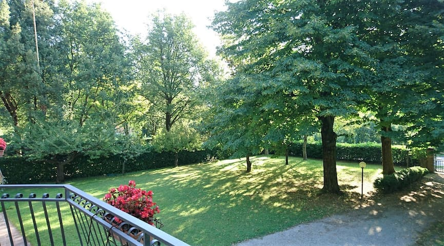 vista giardino dal terrazzo