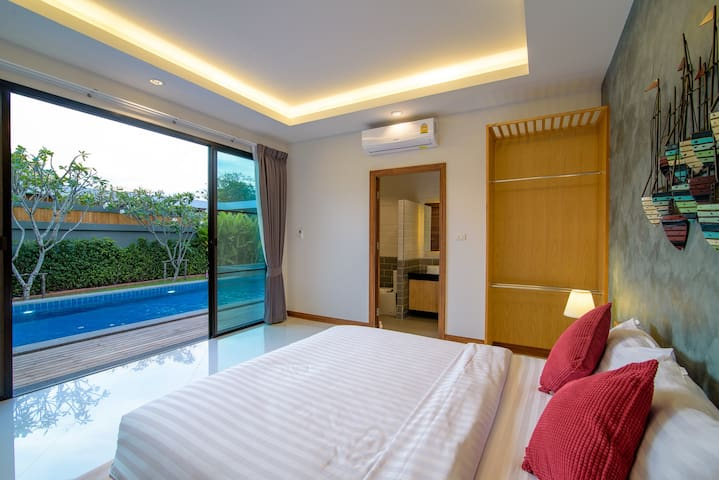 Bedroom no.2 and pool view