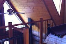 Loft overlooking lake