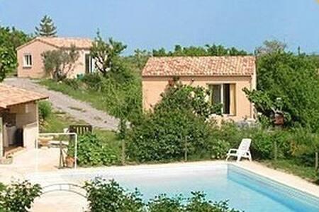 gite le bambou calme bien équipé piscine sécurisée - Lablachère - Haus