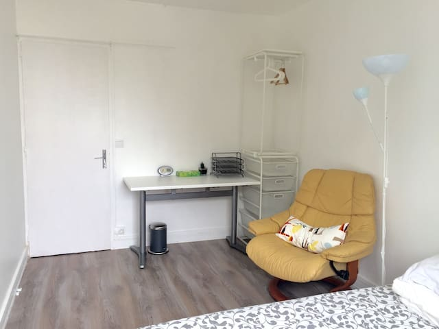 Bright single room near nantes center