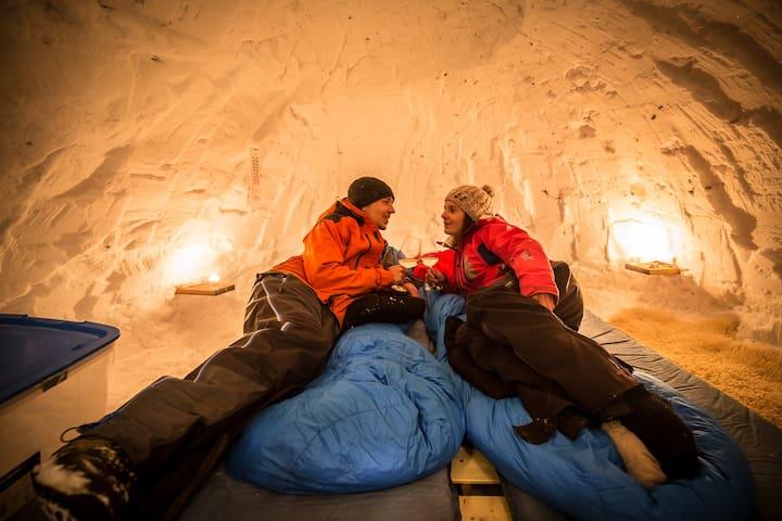 igloo tout confort à Chamonix Mont-Blanc