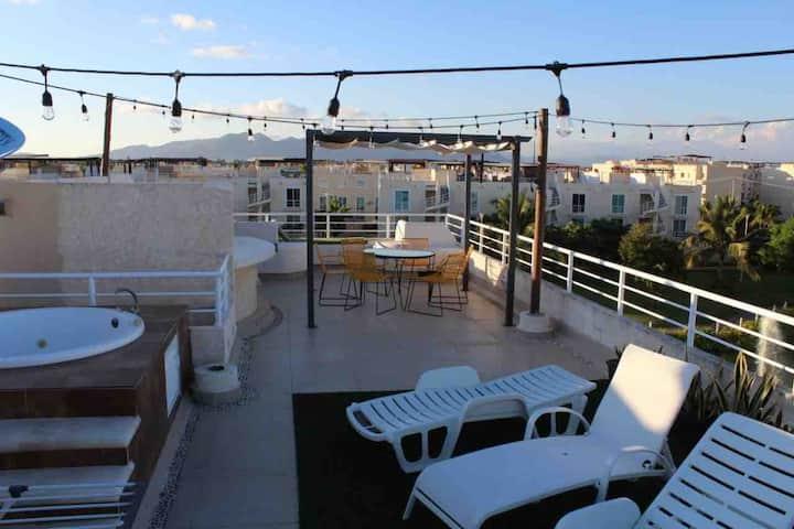 Departamento con Roof Garden en Acapulco Diamante