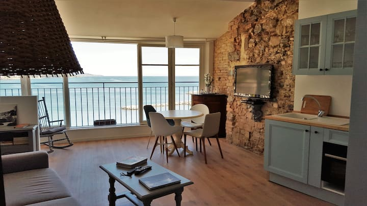 Lovely flat facing the sea