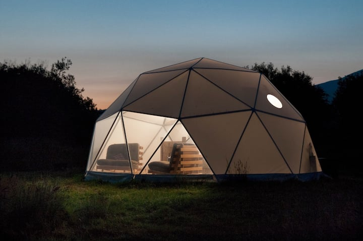 Glamping Dome from Home!