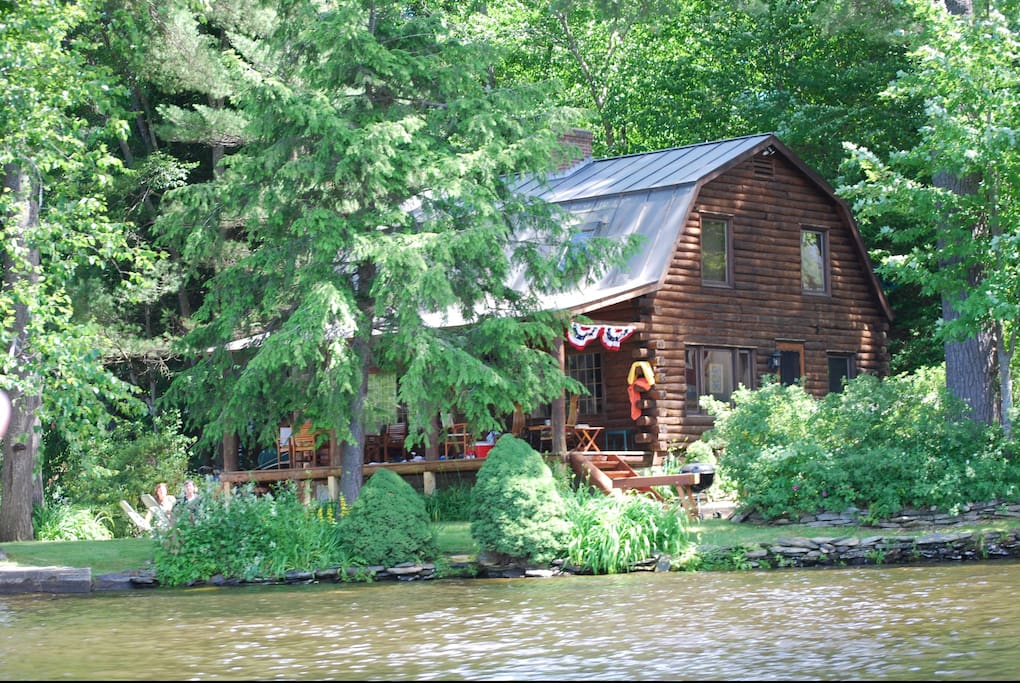 Log Cabin On Lake Rescue Near Okemo Houses For Rent In
