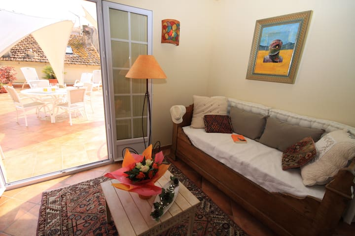 80m2, 2 ch/ 4p, terrasse 25m2, port - Propriano - Apartamento
