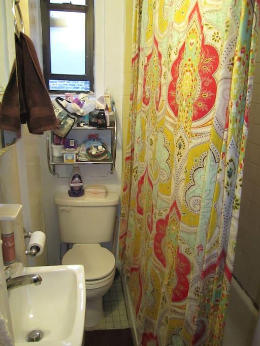 Bathroom - full size shower and bathtub