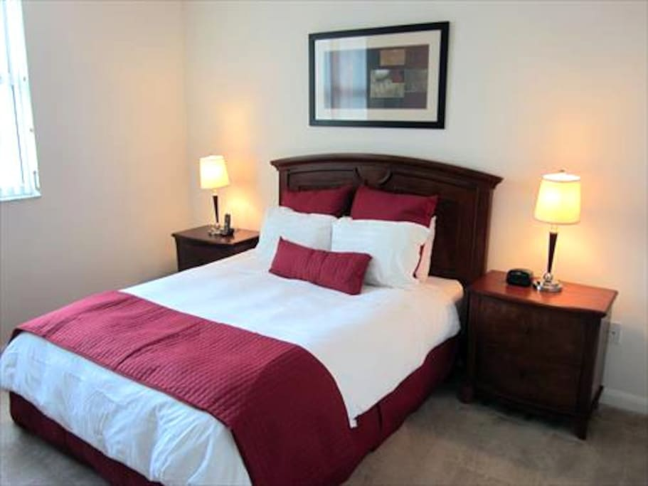Our Private Master Bedroom with Queen Bed, walk-in closet and balcony provides all the comforts for a good night's sleep.