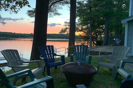 Spacious Modern Home on Tripp Lake Maine