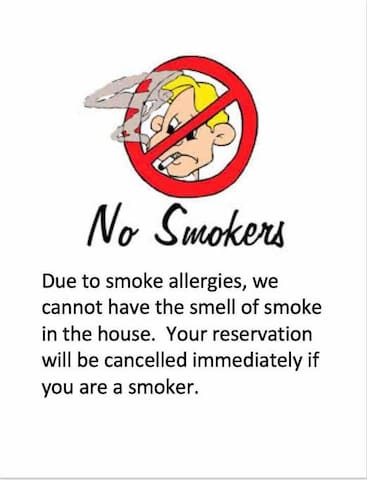 No smokers allowed here! Do not book here if you smoke!