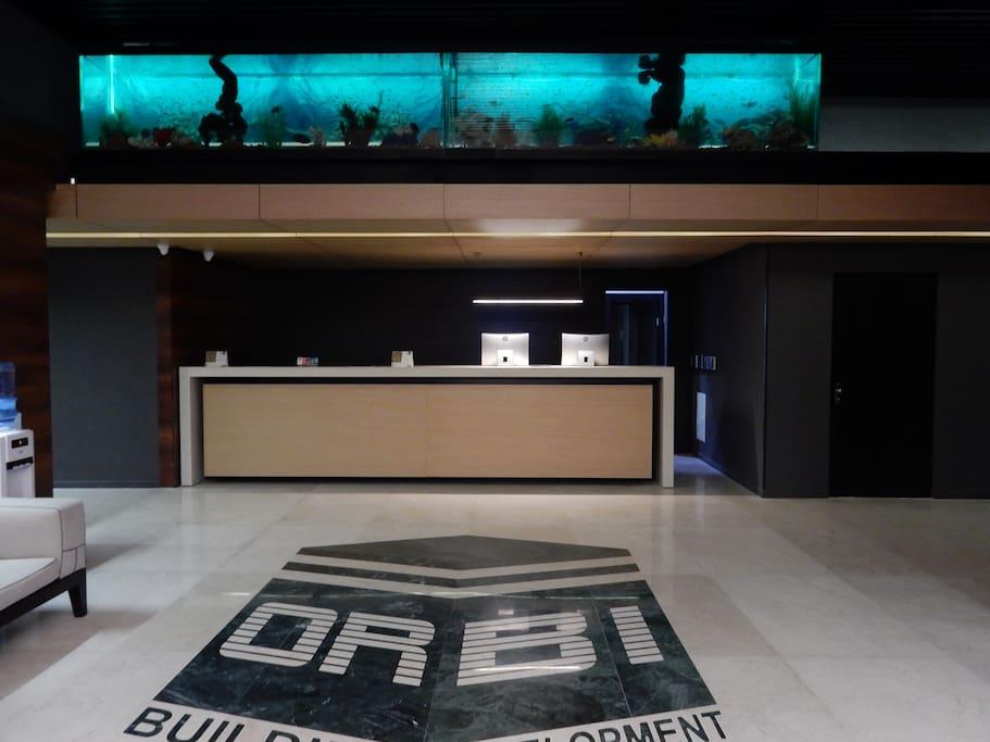 Стойка регистрации гостей в Orby Rsidence