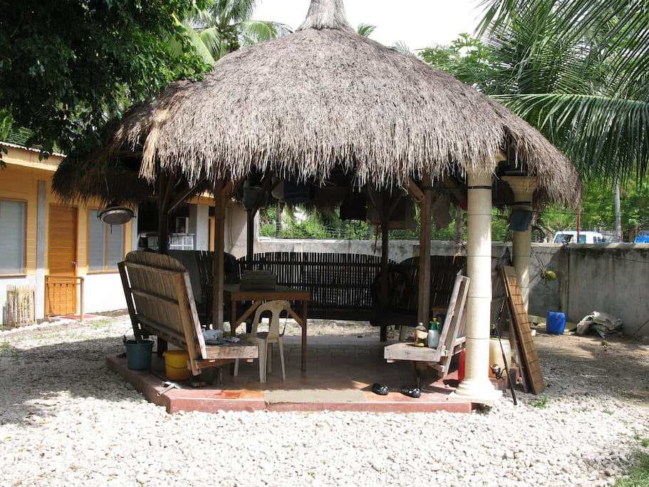 Cabana with electric fan where you can relax after a full day of swimming, hiking or enjoying the sun!