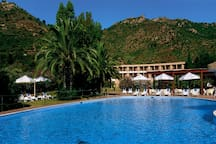 Is Molas Golf Hotel swimming pool is available for the guests ad an additional fee.