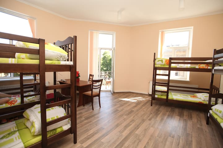 Hostel PANORAMI Center in Lviv -Room for 11 guests