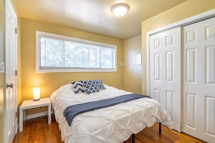 Bedroom #2 with a cozy Queen bed!