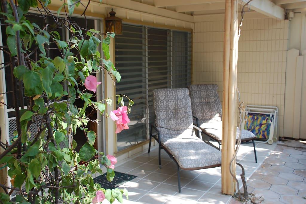 Part of the (patio) lanai