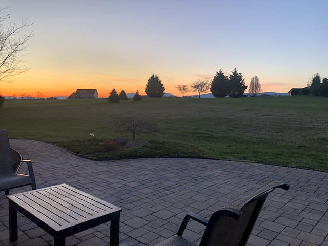 Enjoy gorgeous sunsets on the back porch