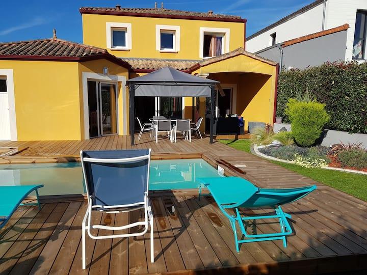 Location villa avec piscine à 10 minutes de Nantes