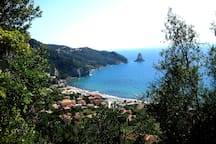 Aghios Gordios village and beach