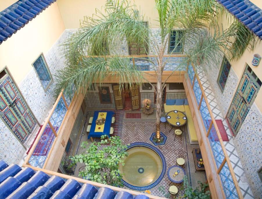 maison traditionnelle de la m dina 5 chambres guest houses louer marrakech marrakech. Black Bedroom Furniture Sets. Home Design Ideas