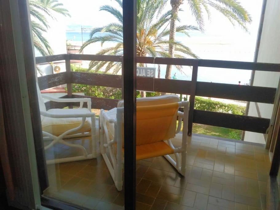 Main bedroom balcony overlooking Mar Menor sea
