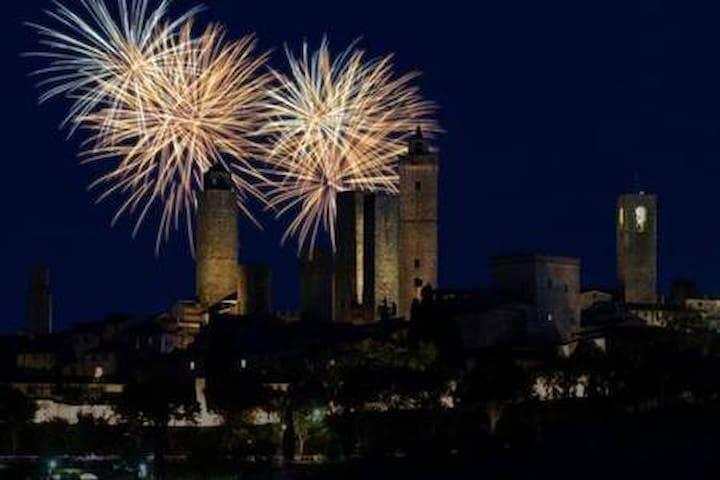 Happy New Year in San Gimignano.