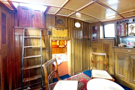 Spacious houseboat in city center! - Groningen - Bot