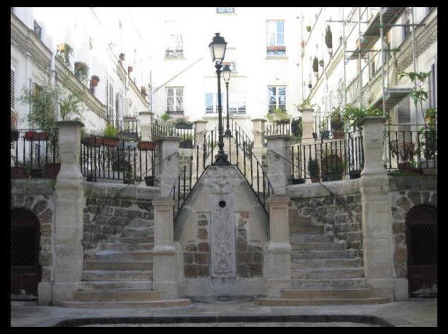 La cour de l'Immeuble