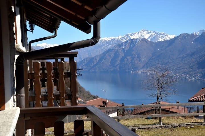 accogliente casa tra lago e monti
