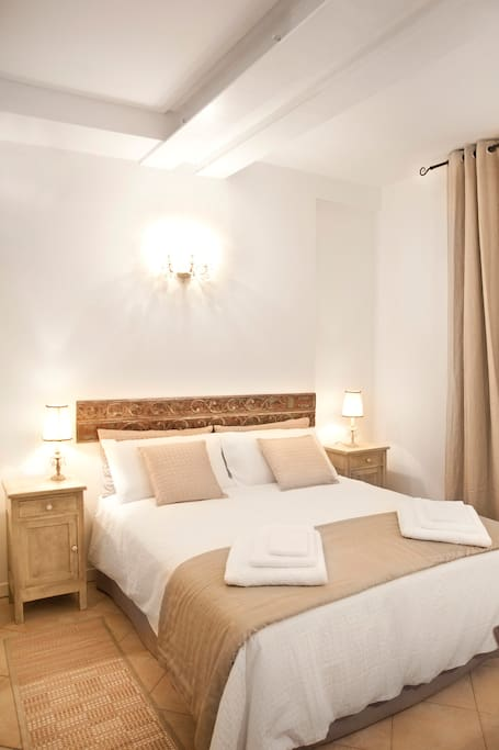 Casa Letizia bedroom. Sheets, blankets, etc. are provided at no extra cost