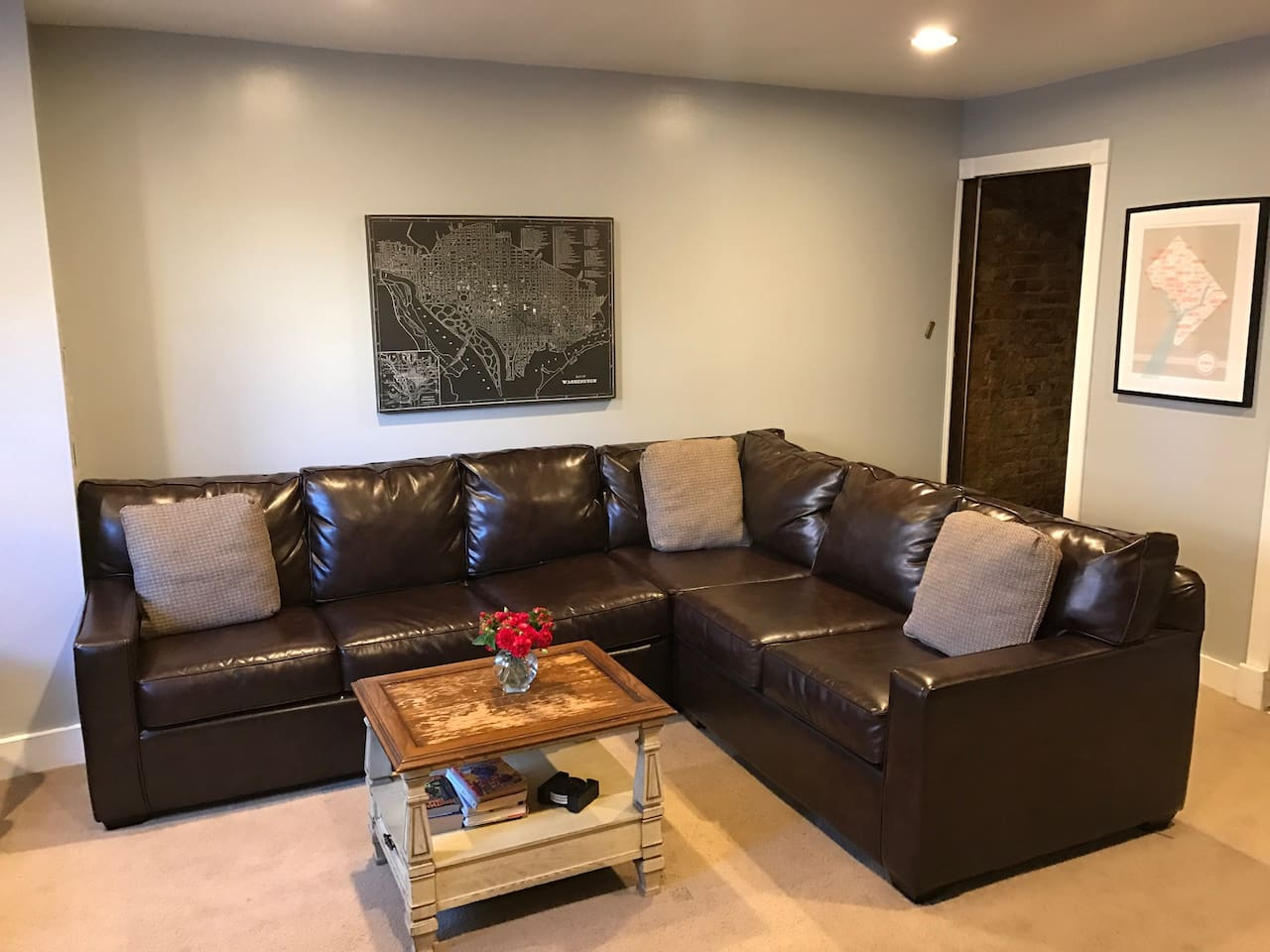 Brand new couch with convertible pullout