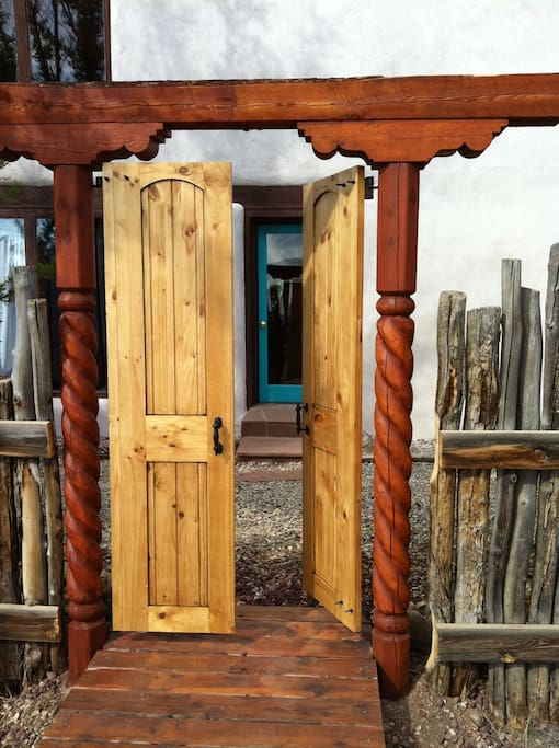 A gate leading to the front door.