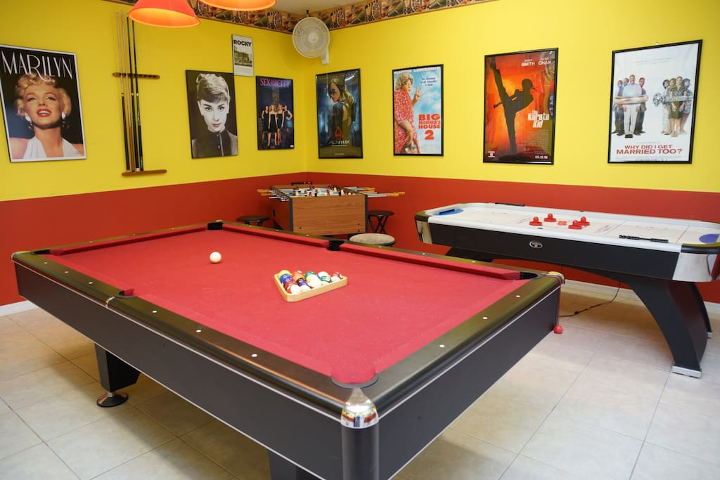 Game-room features all toys for kids and adults