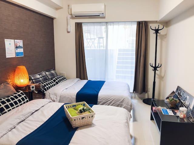 Nice&Clean Room w/Garden/NAMBA/DOTONBORI/FreeWIFI