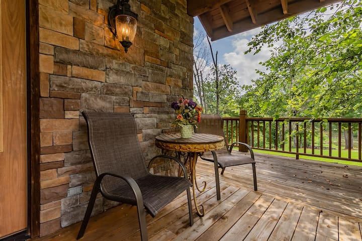 Enjoy your morning coffee or evening wine as you watch the deer and squirrels that frequent Rock Canyon.