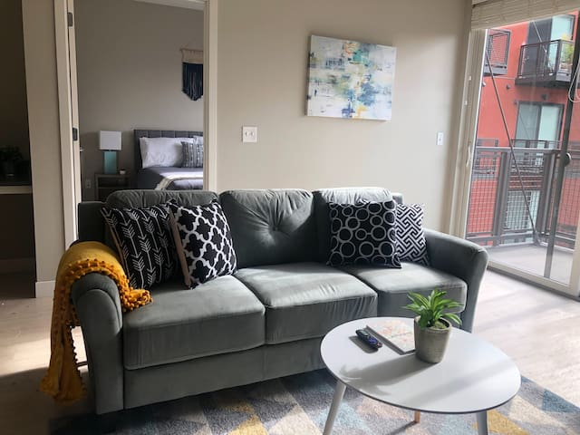 Hip + Open 1BR Apt near the River