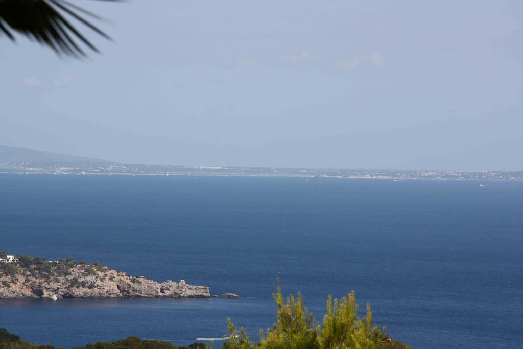 Stunning view facing the old village of Es Cubell's and Formenterra