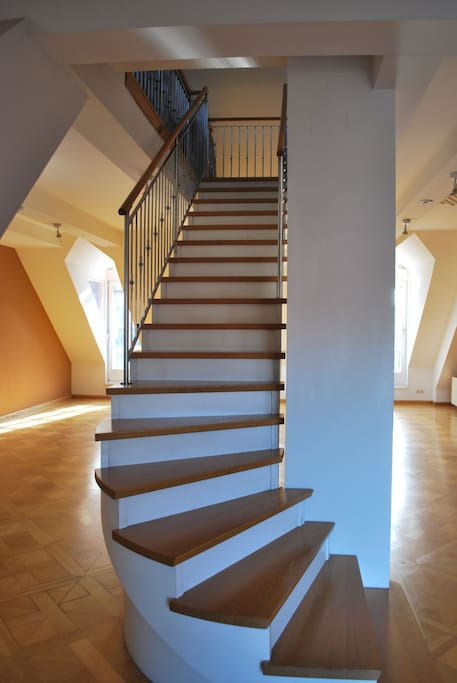 Beautiful maisonette with spiral staircase